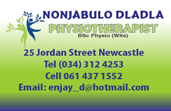 Nonjabulo Dladla Tel: 034-312-4253