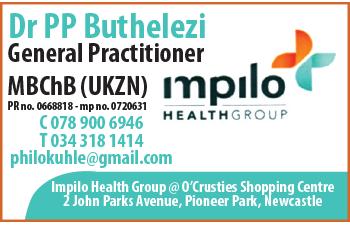 Dr P.P. Buthelezi Tel: 034-318-1414