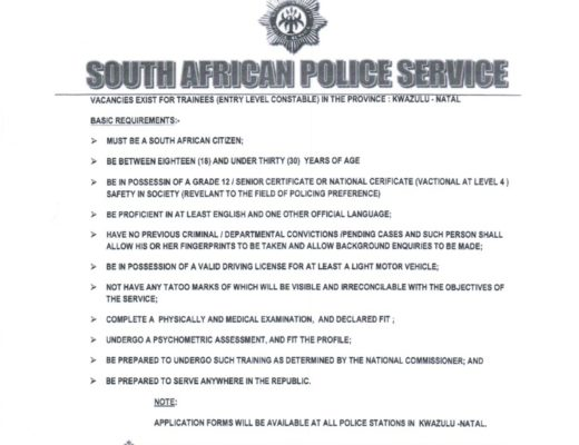 saps training application forms 2016