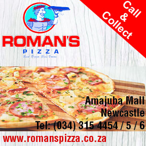 Romans Pizza Tel: 0343154454/5/6