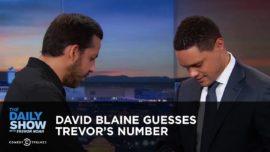 David Blaine guesses Trevor Noah's number