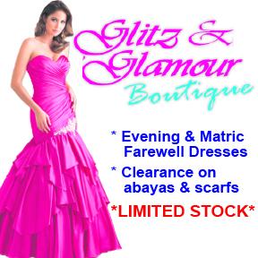 Glitz & Glamour Tel: 082 926 0281