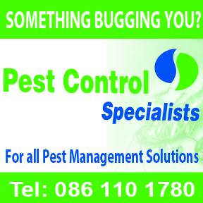 Pest Control Tel: 086 110 1780