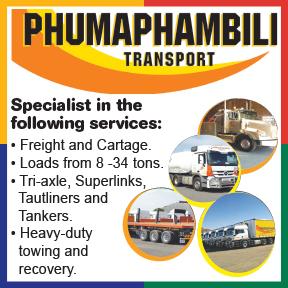 Phumaphambili Transports Tel: 034 375 7060