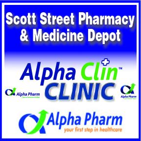 Scott Street Pharmacy Tel: 034 312 6367