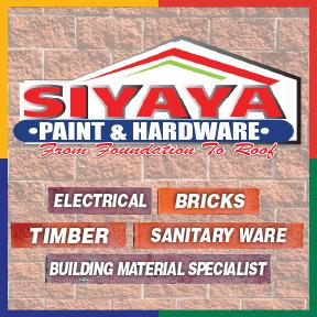 Siyaya Paint & Hardware Tel: 034 315 4340