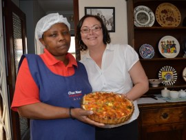 Dorah Ximba, the master chef who wipped up all the yummy cuisine.