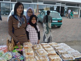 Parween Manjoo, Aaminah Peer and Luthfiya Manjoo had yummy treats for sale.