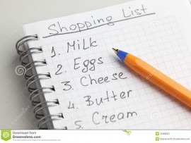 shopping-list-handwritten-ballpoint-pen-45308057