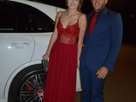 Headboy Kevin Johnson and his date, Donna