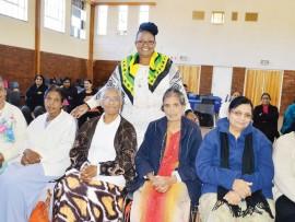 Dolly Hlongwane with some of the seniors
