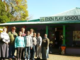 Nicky and Wimpy Wheeler are handing over Eden Play School to Mariette de Lange