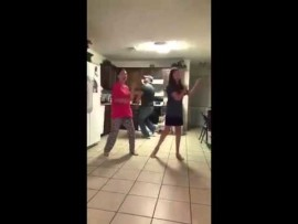 Dad video bombs his daughters dance video