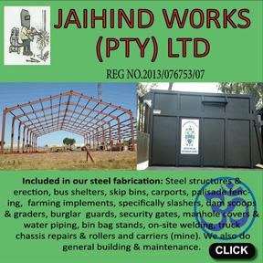 Jaihind Works (PTY)Ltd Tel: 079-304-1037
