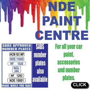 NDE Paint Centre Tel: 034-218-1756