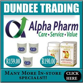 Dundee Trading Pharmacy Tel: 034 218 1683
