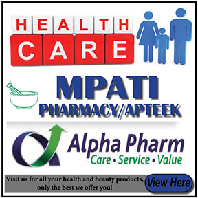 Mpati Pharmacy Tel: 034 218 1797/9