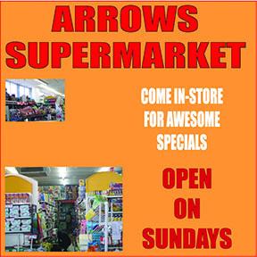 Arrows Supermarket Tel: 034-393-1862
