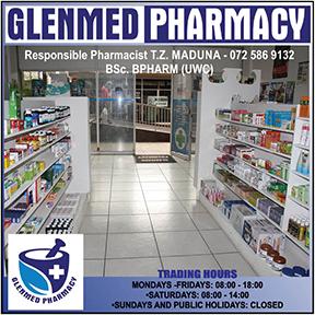 Glenmed Pharamcy Tel:034-393-1065