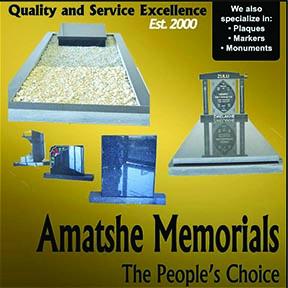 Amatshe Memorials Dundee 036-631-4085
