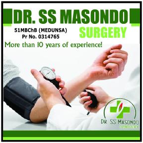 Dr SS Masondo 082-303-0503