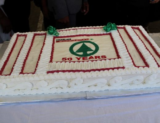 The Huge Birthday Cake That Was Given To Workers And Spar Customers Today Celebrates 50 Years With