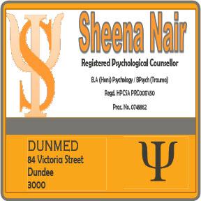 Sheena Nair Psychological Counsellor