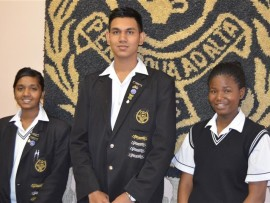 Kashmira Mahadew (top LHS achiever), Keshlin Naidoo (34th in KZN) and Nosipho Mtshali.