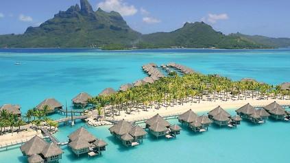 Bora Bora - a dream honeymoon destination.