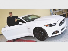 Dundee businessman, Shahiel Chunder, is the first person to take ownership of a Ford Mustang sold at Vryheid dealership, Ritchie Ford. It was previously impossible to buy this iconic model off the floor at a South African dealership.