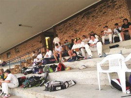 Vryheid High School pupils taking part in the cricket tour.