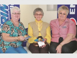 Nonnie Scheepers, Betty Van Rensburg and Maritjie Putter pose for a quick photo.