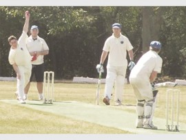 Connor High in action on the cricket pitch where he excels at bowling.