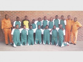 Ncome Prison's team of officials who won their match against Amajuba.