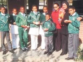 ML Sultan Primary School learners enjoyed a midday sandwich sponsored by Deputy Principal Mrs Osman.