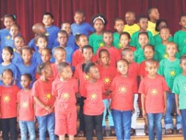 Estcourt Pre-Primary School sang various songs for their audience.