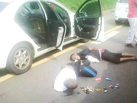 Two of the four suspects that were arrested on the N3 last Thursday.