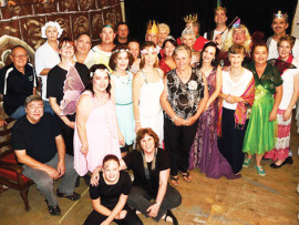 Margie Haynes and the cast and crew of Sleeping Beauty.