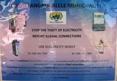 Blow the whistle on electricity theft in Estcourt | Estcourt