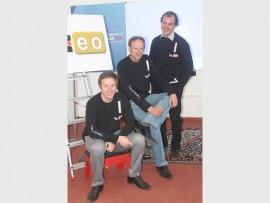 Marius Schoeman (New Media Specialist, cameras), Luhann Schoeman (TeachTech, founder) and Mathew Ward (New Media Specialist, editing).
