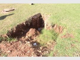 'n Gevaarlike vanggat op die hoek van H.F. Verwoerd- en Pretoriusstraat kan die oorsaak wees van 'n ernstige besering.