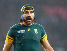 Victor Matfield will captain the Springboks when they face Argentina in the Bronze Final on Friday, 30 October. - Image by © Paul Cunningham/Corbis