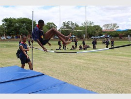 High jump is one of the items during the Capricorn High School interhouse athletics.