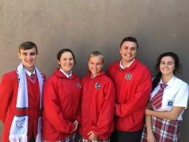 Tinus Botha, Samantha Coetzee (onderhoofleier), Abbygale Steynberg (hoofleier), Morné Bezuidenhout en Ankia Hyman is die skool se leiers vir 2017.