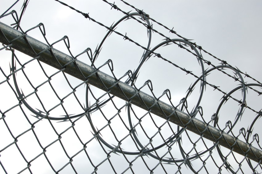 barbed wire fence prison. One Of Five Awaiting Trial Prisoners Rearrested After Bela Prison Escape Barbed Wire Fence P