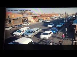 CCTV footage: Ambulance crashes into several vehicles