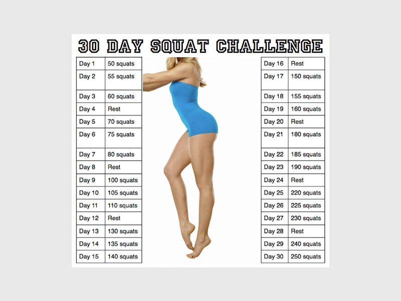 The 30 day squat challenge will help you sculpt your butt.