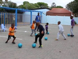 Up and coming 'Soccer Starz' in training