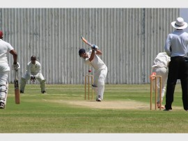 Morné Venter (Impalas) in action on the pitch. He contributed 23 runs for his team in the match against Gauteng.