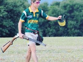 Pieter Greyling het onlangs deelgeneem aan die  Senior Kleiduifskiet  Wêreldkampioenskappe in Texas, VS. Foto: Verskaf